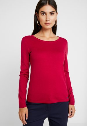 BASIC NECK - Trui - dark red