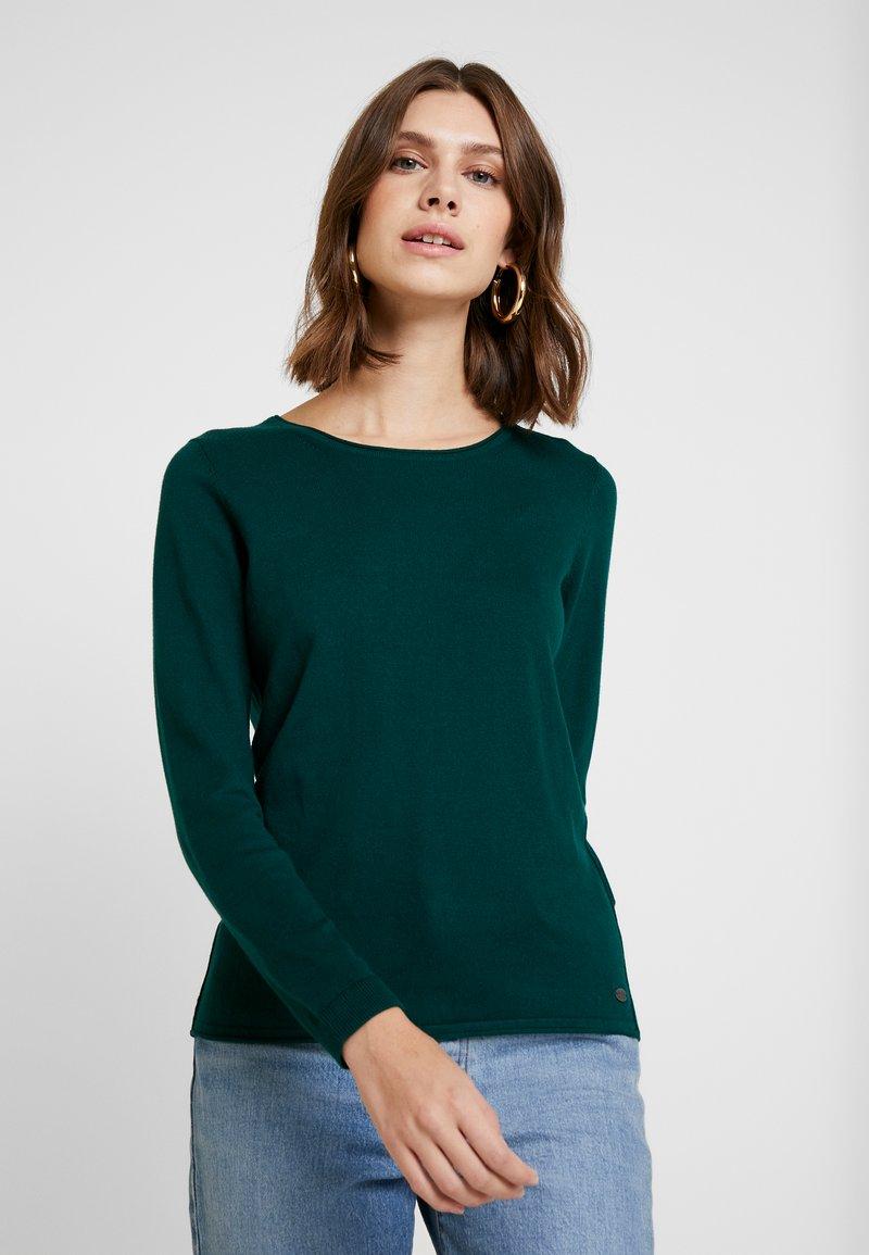 edc by Esprit - BASIC NECK - Stickad tröja - bottle green