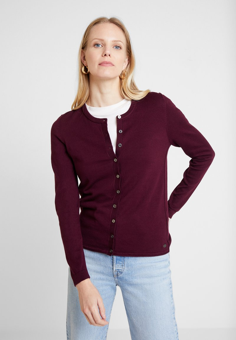 edc by Esprit - Strikjakke /Cardigans - bordeaux red