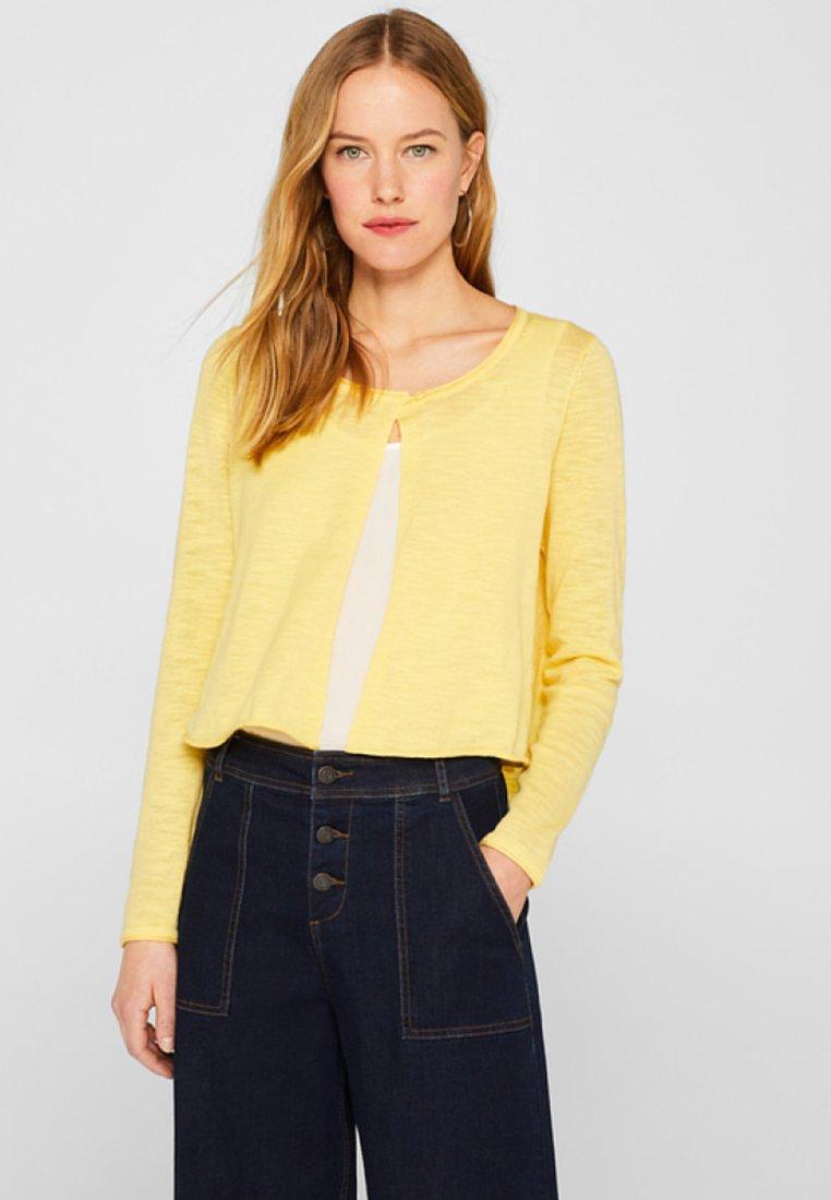 edc by Esprit - Strickjacke - light yellow
