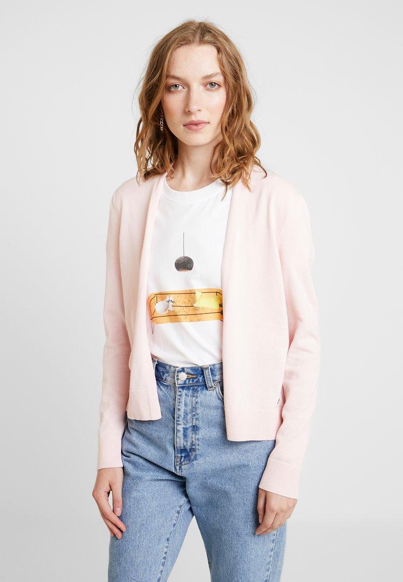 edc by Esprit - BASIC OPEN CARDI - Cardigan - light pink