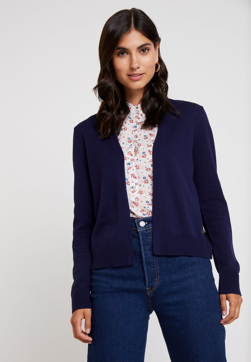 edc by Esprit - BASIC OPEN CARDI - Strickjacke - navy