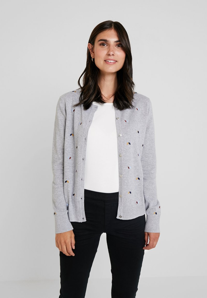 edc by Esprit - NECK - Chaqueta de punto - light grey