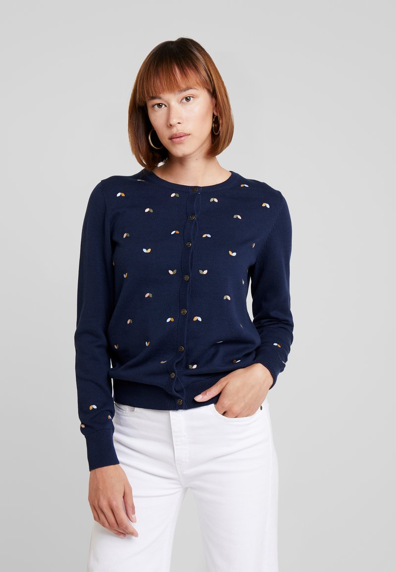 edc by Esprit - NECK - Strickjacke - navy