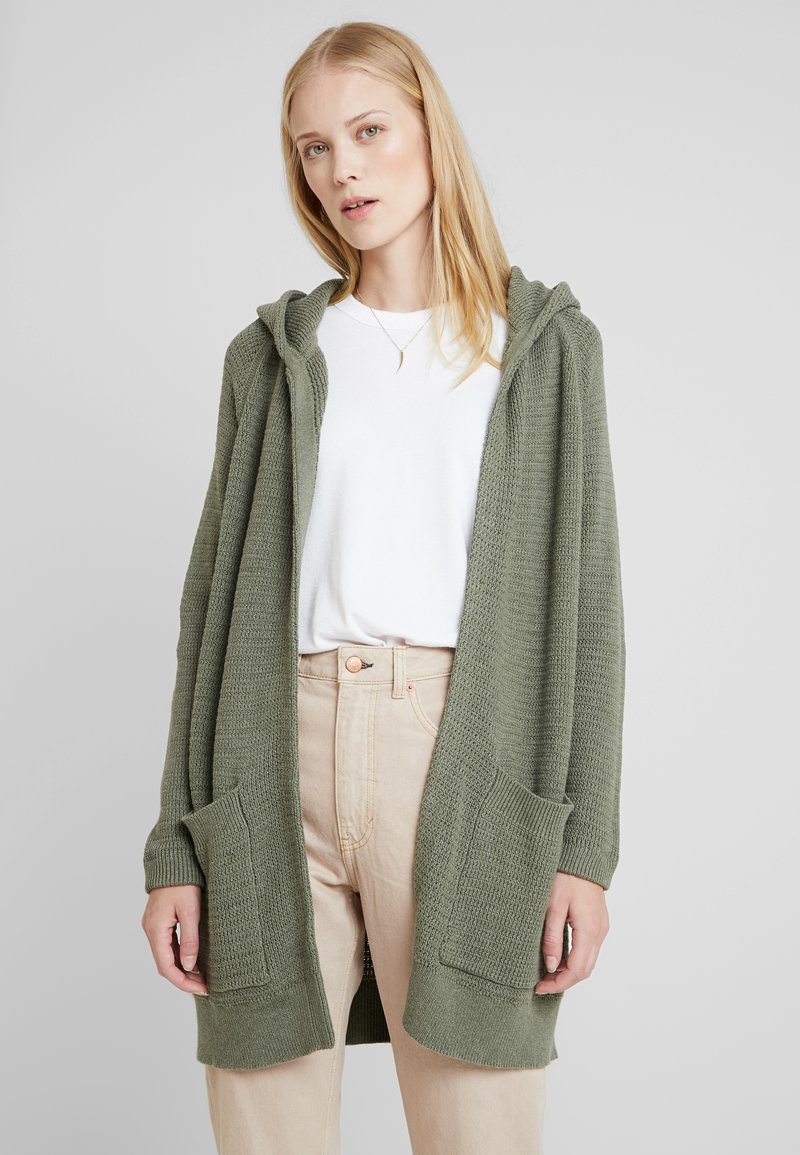 edc by Esprit - HOODED  - Cardigan - khaki green