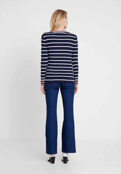 sprzedaż edc by Esprit V NECK - Sweter - navy Odzież Damska QALJ-MI8