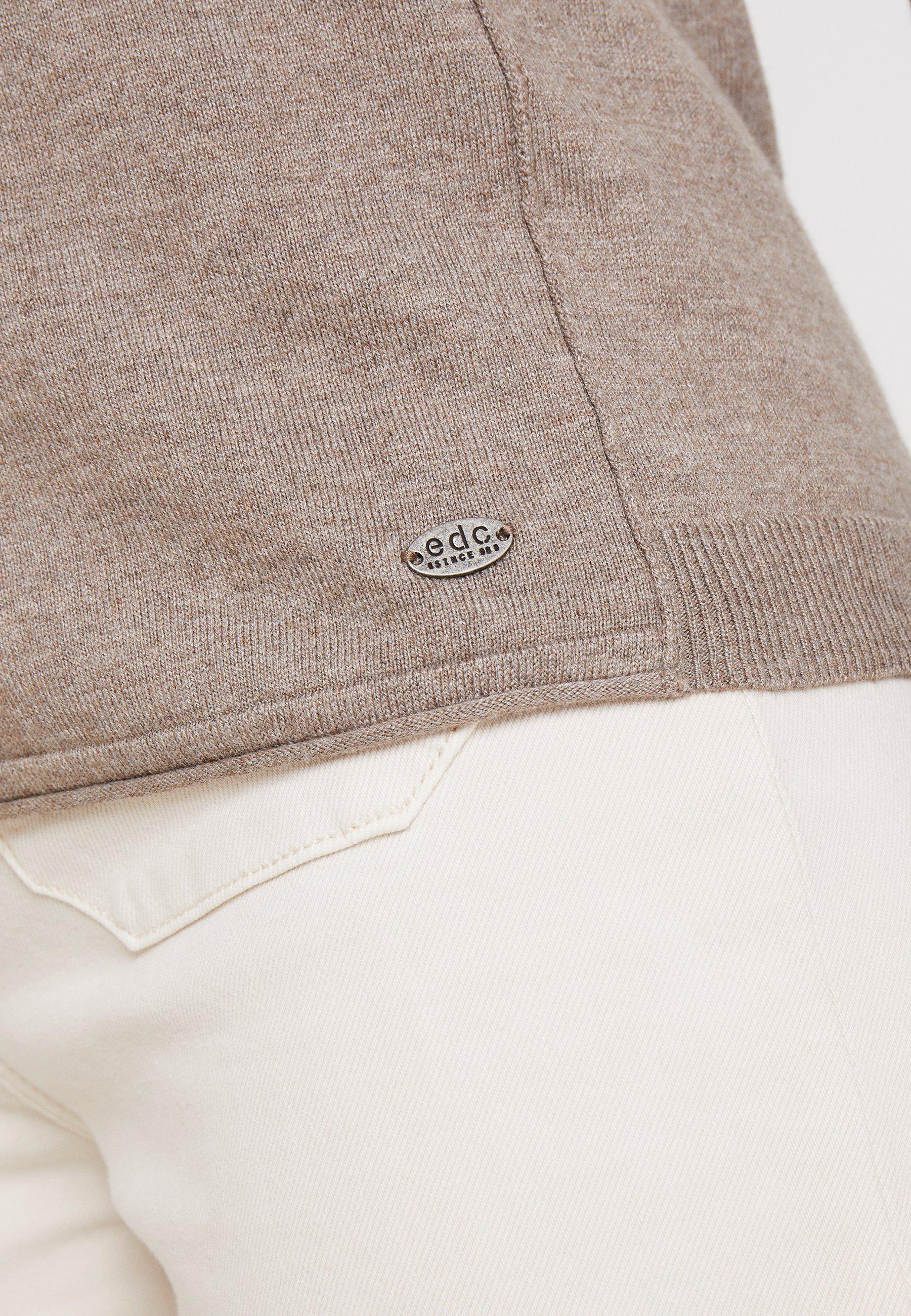 Edc By Esprit Basic Neck - Strikpullover /striktrøjer Taupe