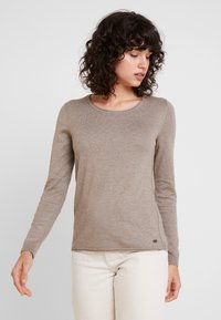 edc by Esprit - BASIC NECK - Strickpullover - taupe - 0
