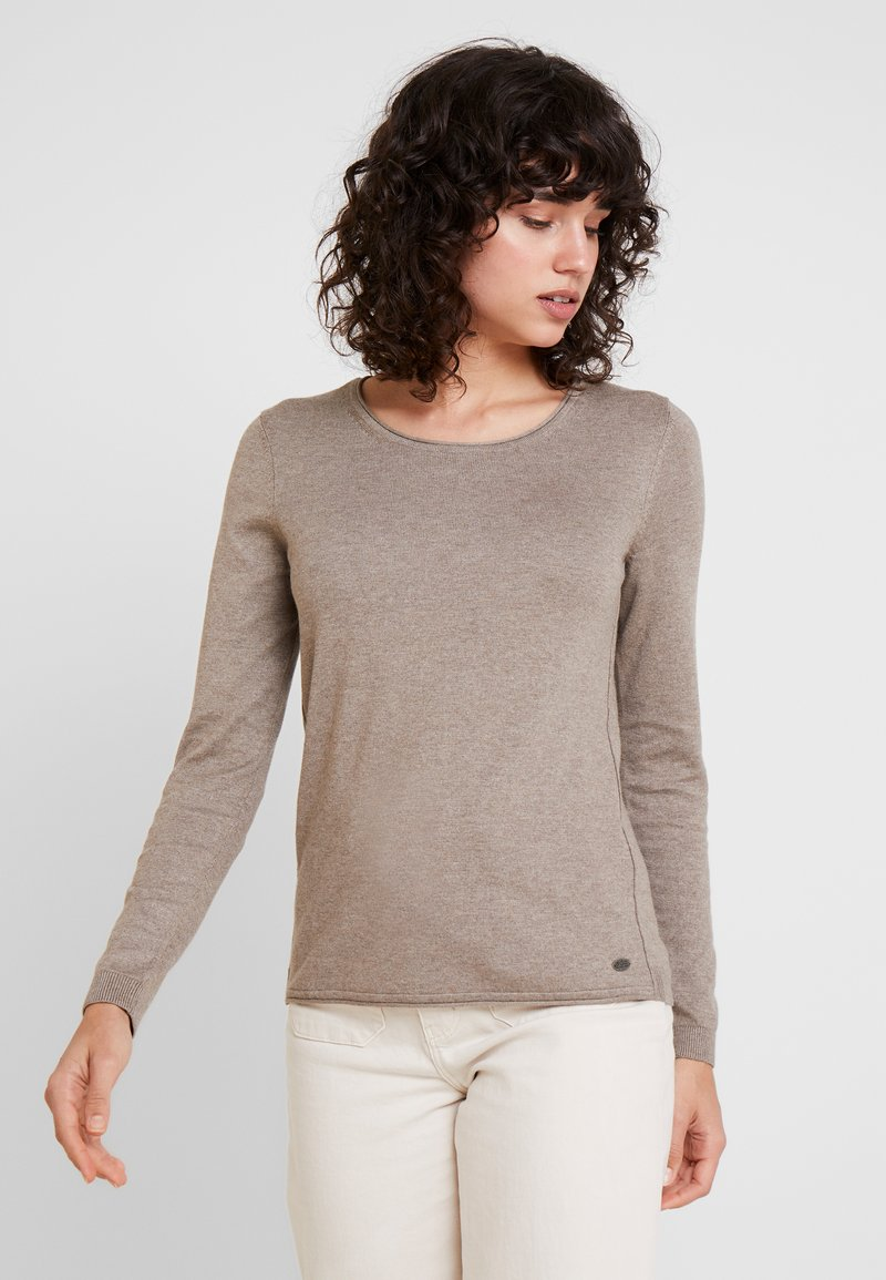 edc by Esprit - BASIC NECK - Strickpullover - taupe