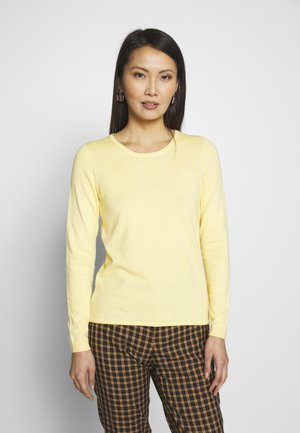 BASIC NECK - Jersey de punto - yellow