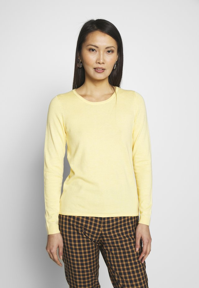 BASIC NECK - Sweter - yellow