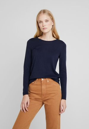BASIC NECK - Jumper - navy