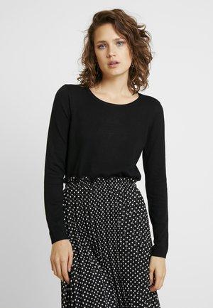 BASIC NECK - Pullover - black