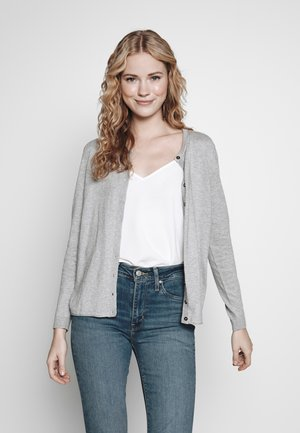 BASIC - Chaqueta de punto - light grey