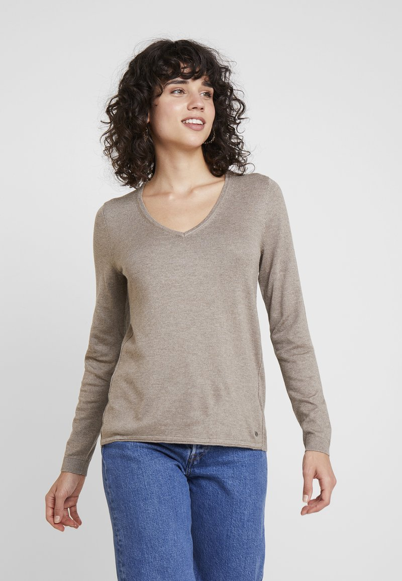 edc by Esprit - Strickpullover - taupe