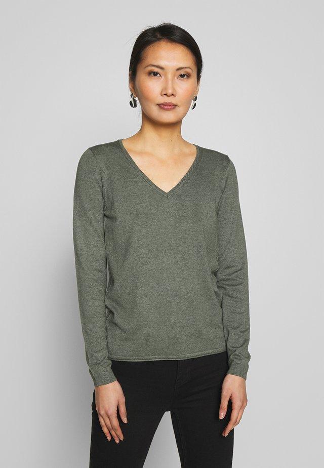 Strickpullover - khaki green