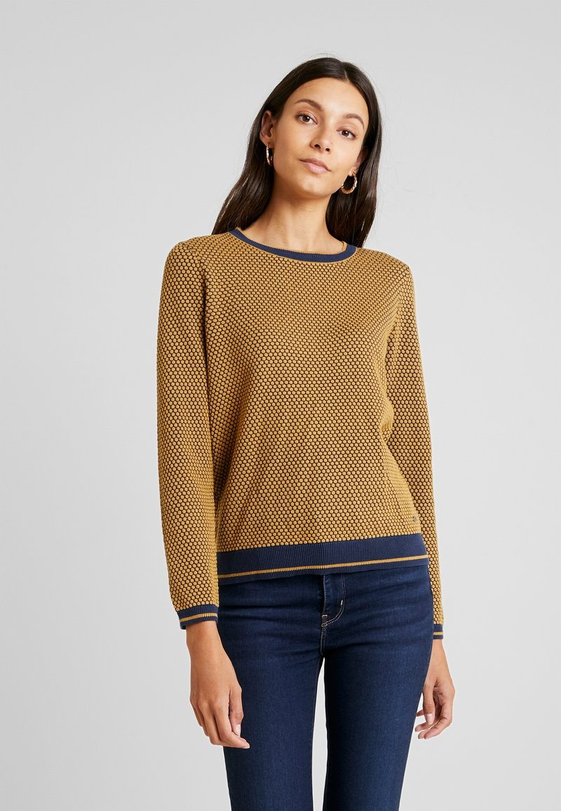 edc by Esprit - STRUCTURE  - Strickpullover - amber yellow