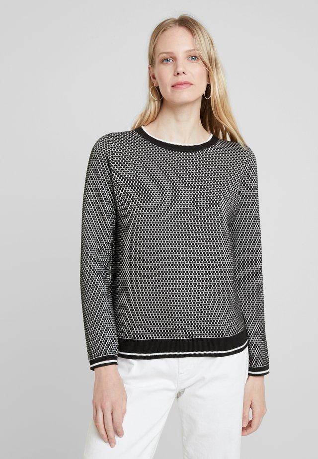 STRUCTURE  - Stickad tröja - black