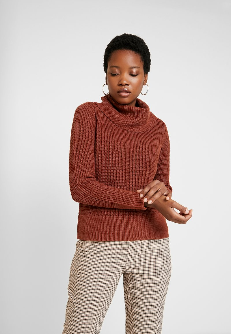 edc by Esprit - COSY COWL - Pullover - rust brown