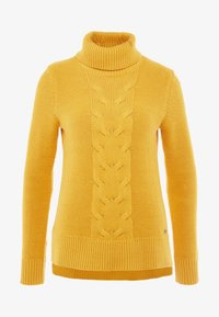 edc by Esprit - CABLE ROLL NECK - Trui - honey yellow - 4