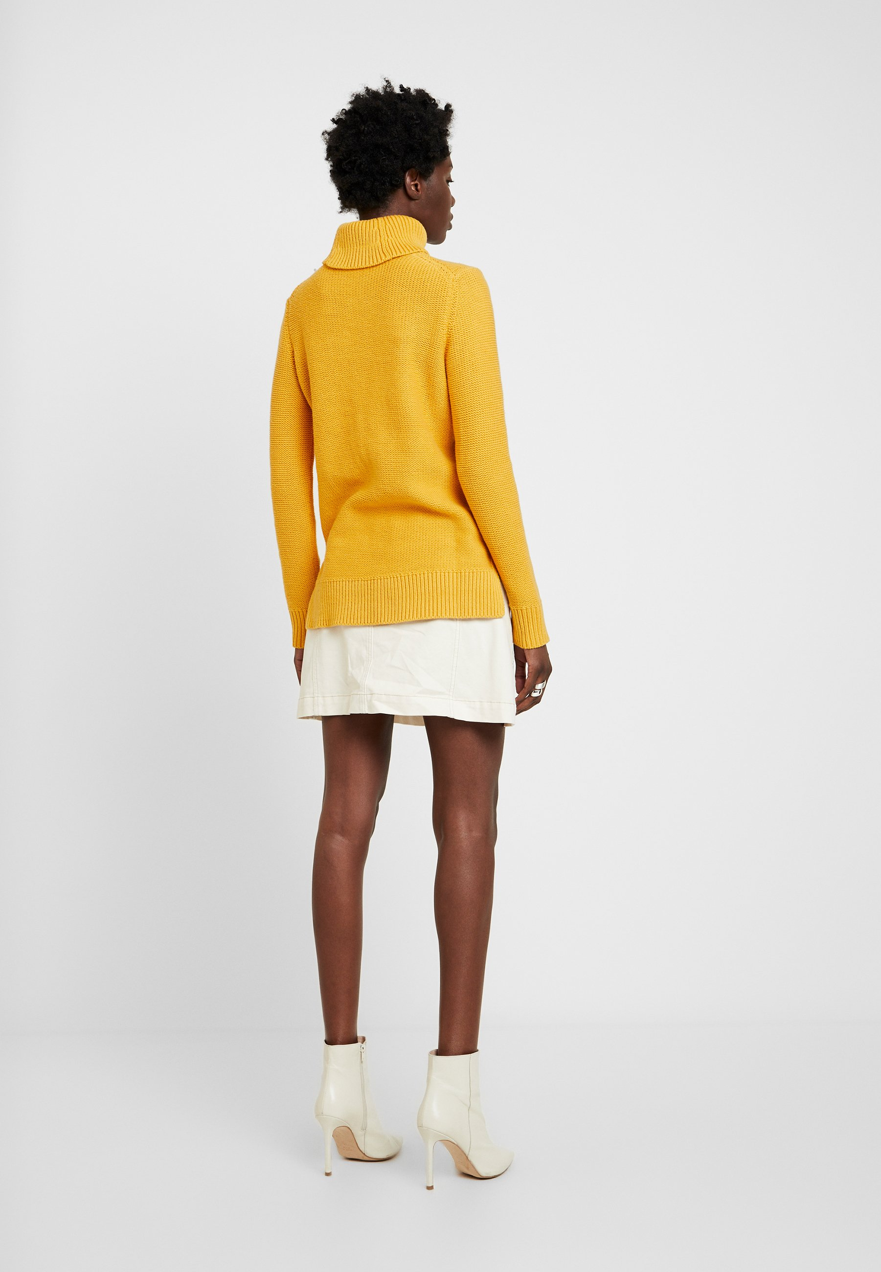 edc by Esprit CABLE ROLL NECK - Maglione honey yellow