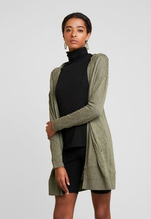 HOODED - Cardigan - khaki green