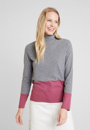 COLOR BLOCK  - Sweter - gunmetal
