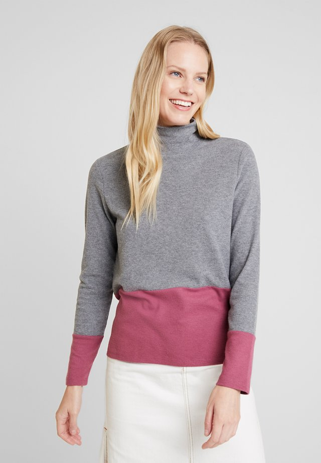 COLOR BLOCK  - Jersey de punto - gunmetal
