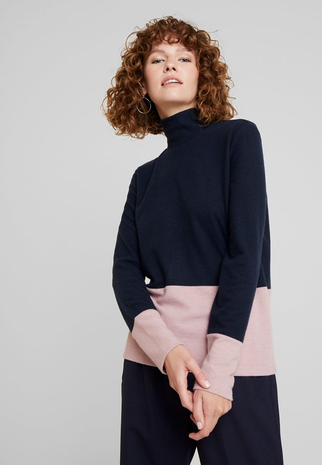 COLOR BLOCK  - Jersey de punto - navy