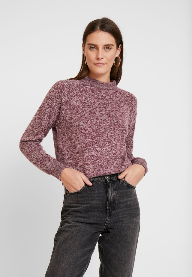 BRUSHED - Jumper - bordeaux red