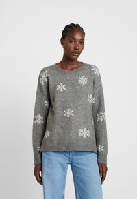 edc by Esprit - JACQUARD - Pullover - gunmetal - 0