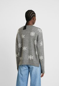 edc by Esprit - JACQUARD - Pullover - gunmetal - 2