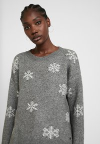 edc by Esprit - JACQUARD - Pullover - gunmetal - 3