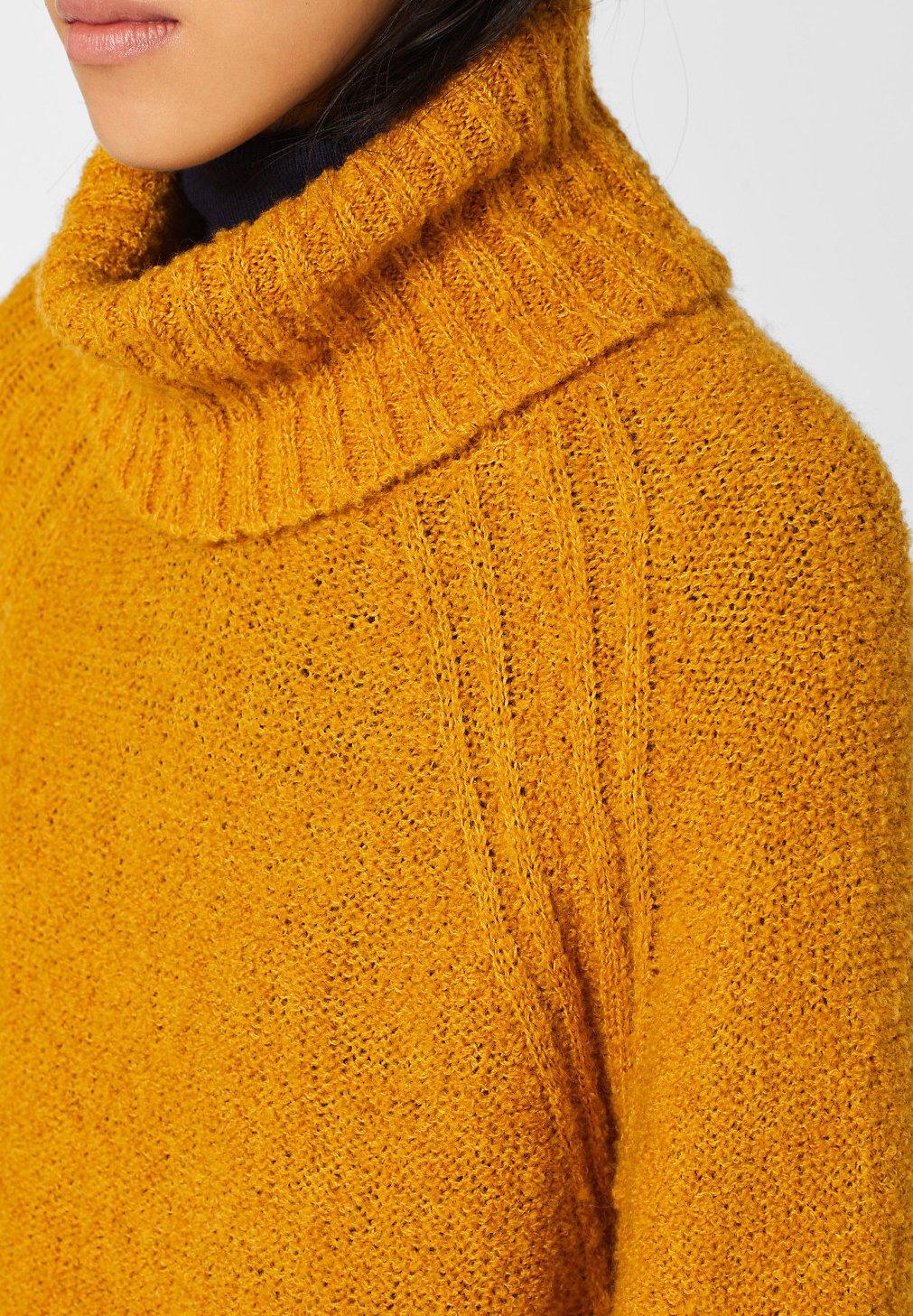 Esprit yellow ROLLKRAGENStrickpullover by edc MIT honey qMVpSzGU