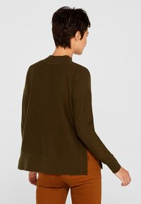 edc by Esprit - MIT LOGO-INTARSIEN - Trui - khaki green - 2
