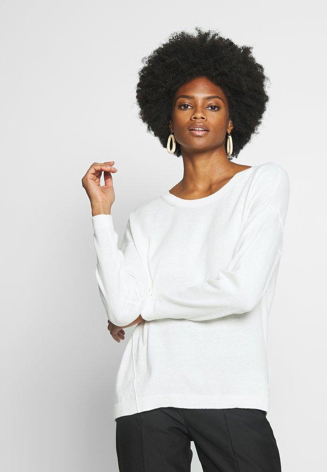 NECK ROUND - Strickpullover - off white