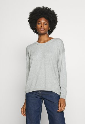 NECK ROUND - Sweter - light grey