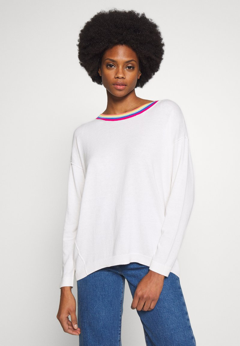 edc by Esprit - NECK ROUND - Jersey de punto - off white