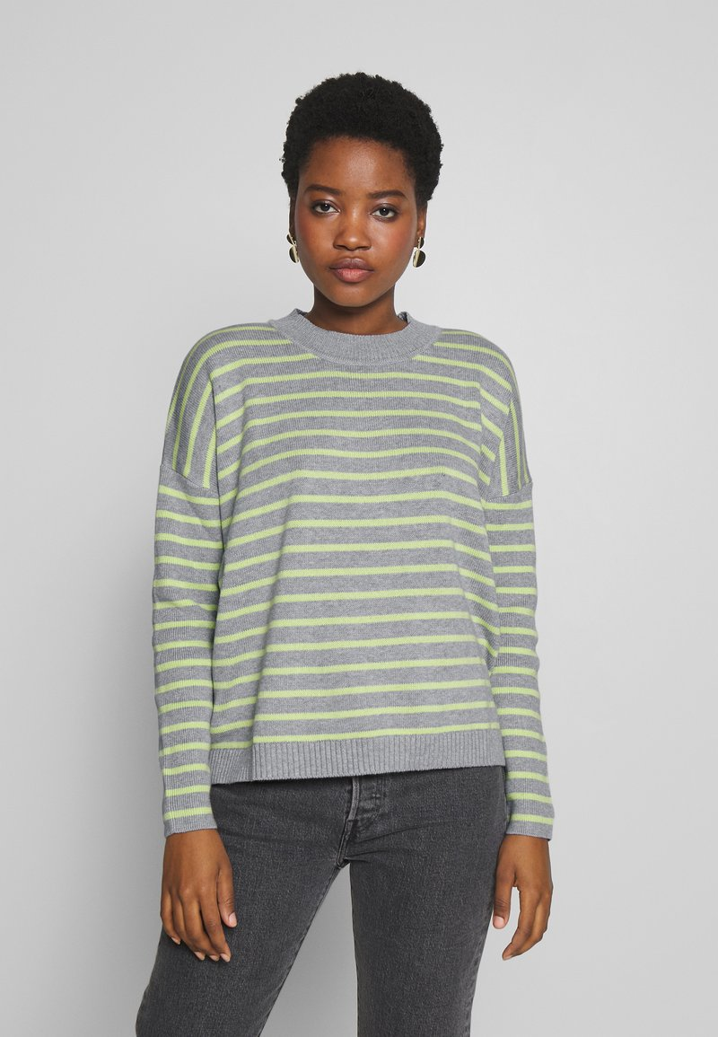 edc by Esprit - STRIPED - Sweter - light grey