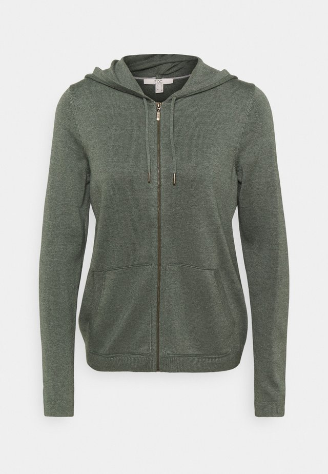 ZIP  - Strickjacke - khaki green