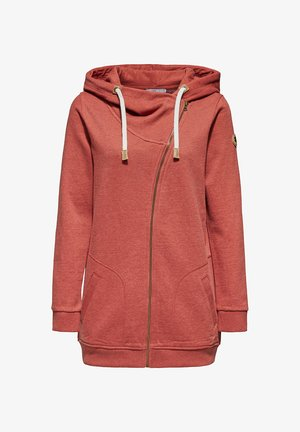 ZIP HOODY - Zip-up hoodie - rust orange
