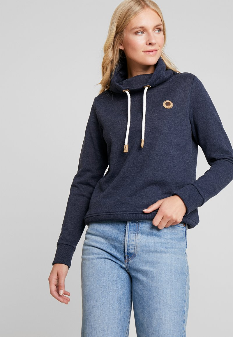 edc by Esprit - HIGH COLLAR - Sweatshirt - navy