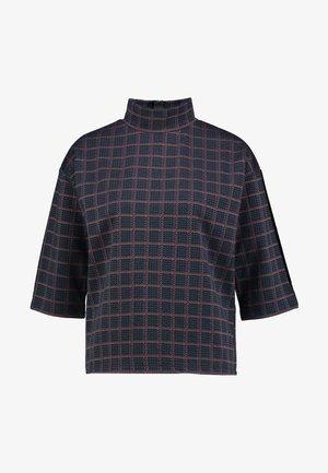 GLEN CHECK - Sweatshirt - navy