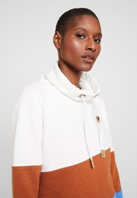 edc by Esprit - COLORBLOCK HOOD - Mikina - off white - 4