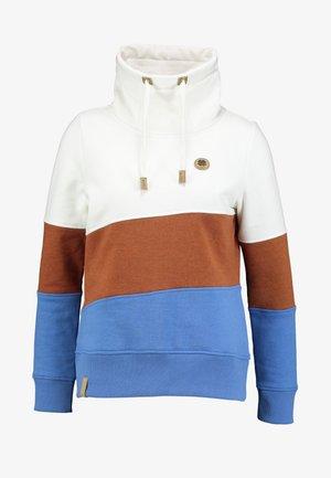 COLORBLOCK HOOD - Sweatshirt - off white