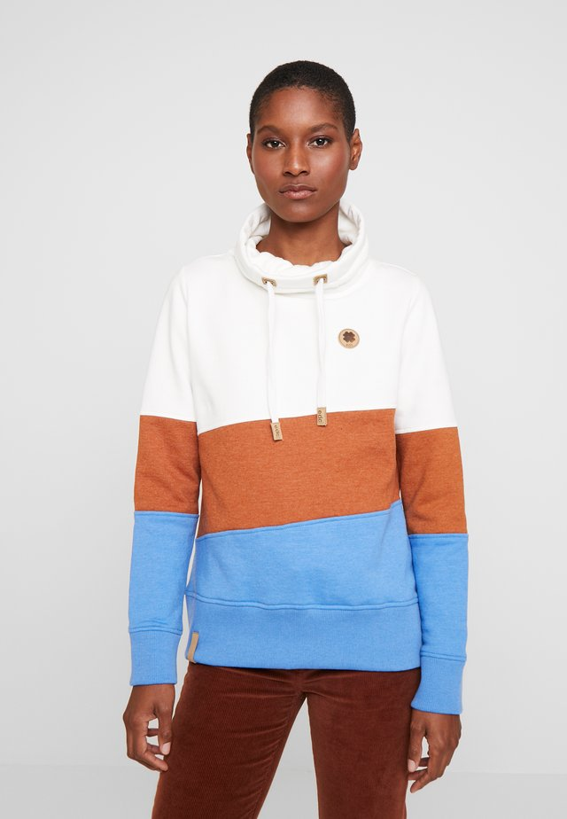 COLORBLOCK HOOD - Sweatshirt - off white