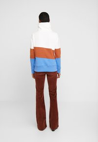 edc by Esprit - COLORBLOCK HOOD - Mikina - off white - 2