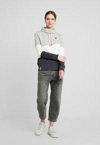 edc by Esprit - COLORBLOCK HOOD - Sweater - light grey - 1