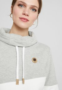 edc by Esprit - COLORBLOCK HOOD - Sweater - light grey - 3