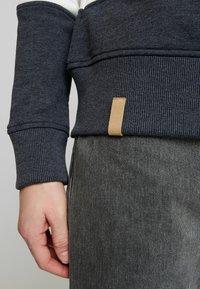 edc by Esprit - COLORBLOCK HOOD - Sweater - light grey - 5